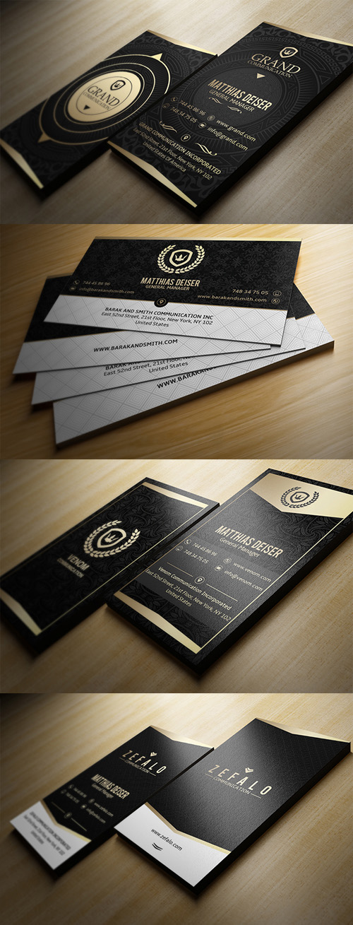 Gold And Black Business Cards