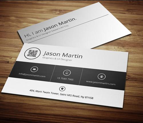 Minimal Metro Style Business Card