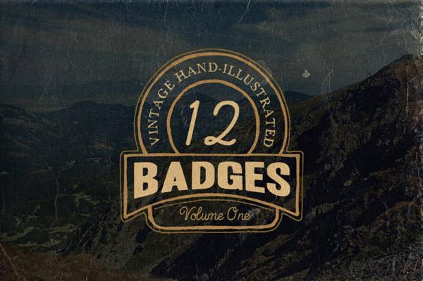 Hand Drawn Vintage Badges