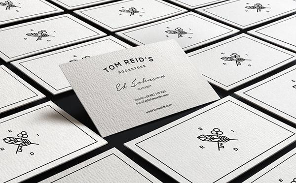 Tom Reid's Bookstore Business Card