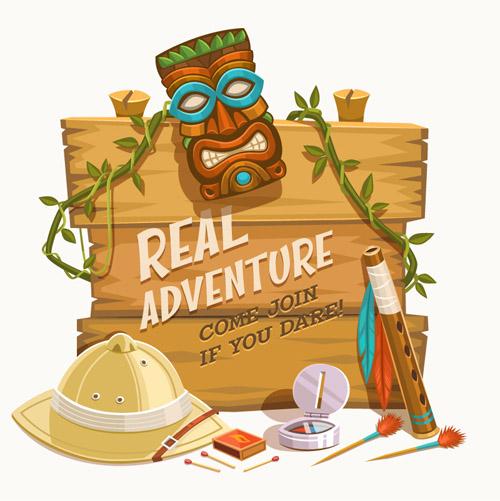 Real Adventure Bulletin Board Vector