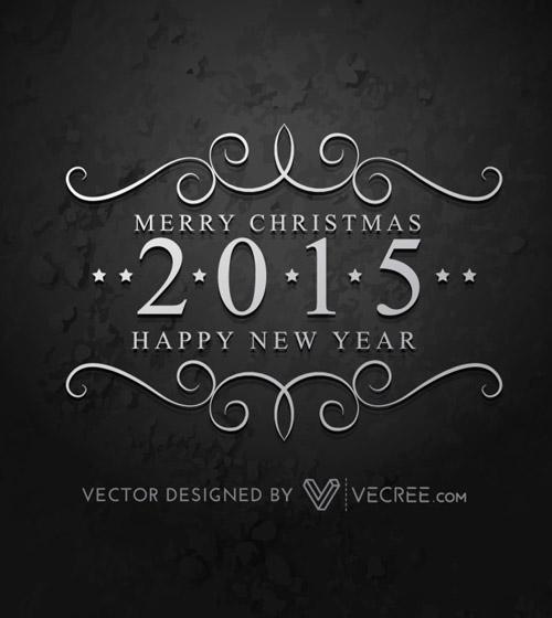 Creative 2015 Happy New Year Free Vector