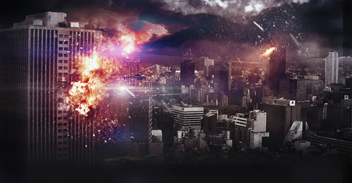 Apocalyptic City Explosion Photoshop Tutorial