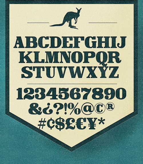 Canberra Font Letters