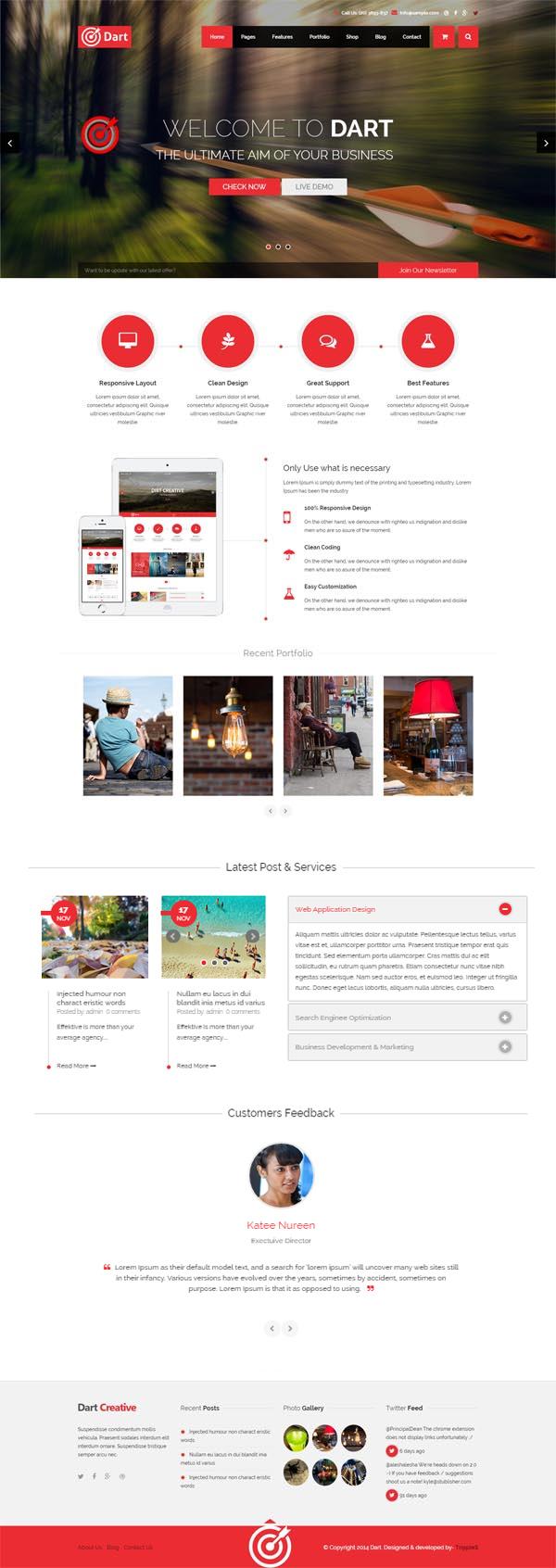 Dart – The Advanced WordPress Business Theme
