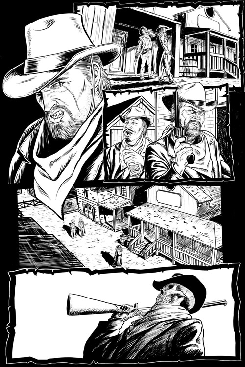 Create a Digital Comic, from Sketch to Pencil Drawing to Inks in Photoshop tutorial