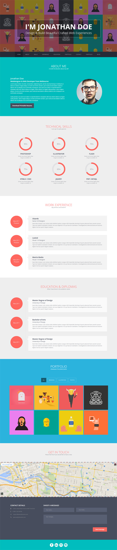 Flato - vCard, Resume, Personal WordPress Theme