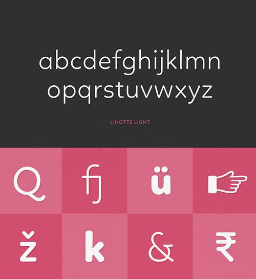 Linotte Font Letters