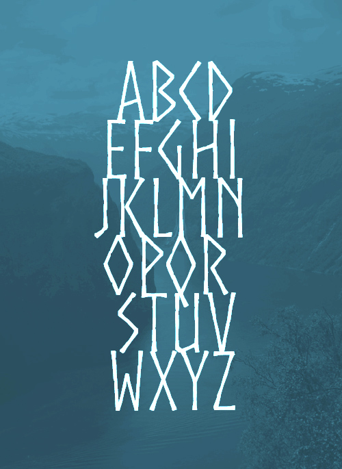 Norse Font Letters