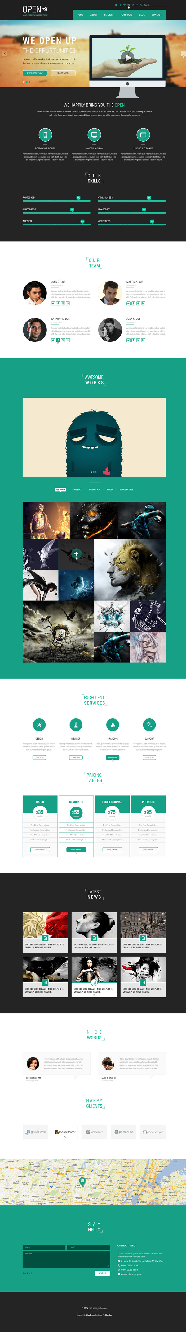 Open - Responsive Corporate and Business Template