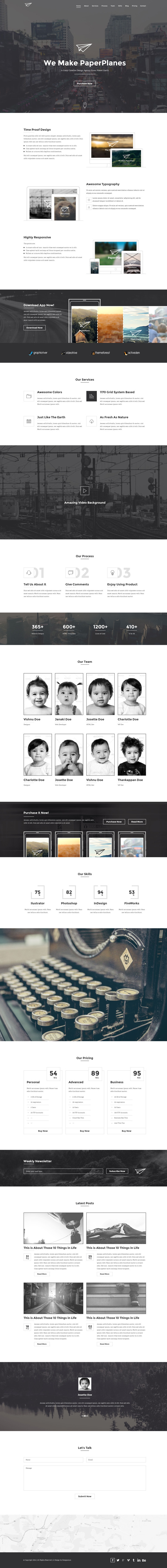 PaperPlane - HTML5 Portfolio Template