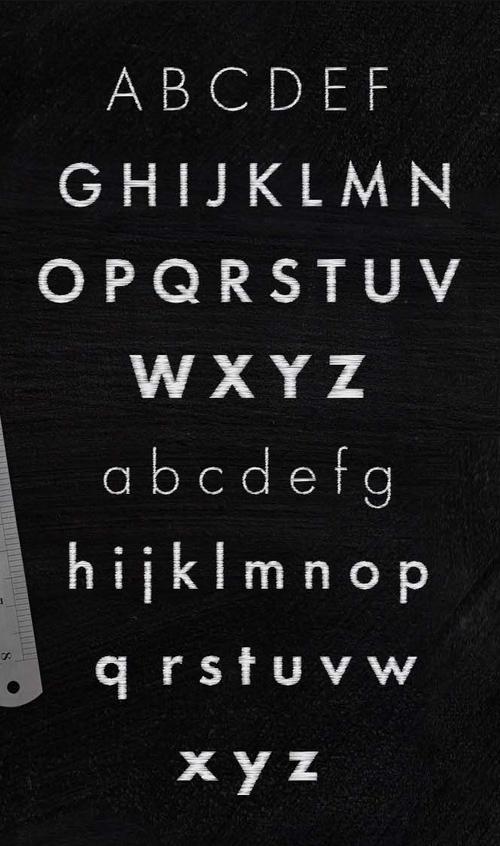 Schist Font Letters