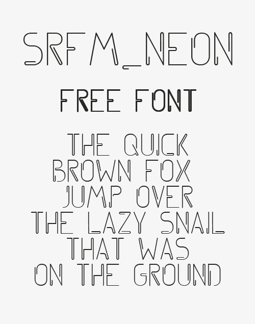 Srfm_Neon Free Font