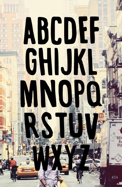 Vintage-Inspired Font Letters