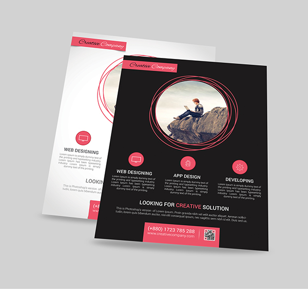 Modern Web/App Design Agency Flyer/Poster