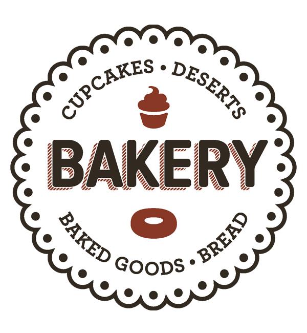 Cupcake Deserts Bakery Logo