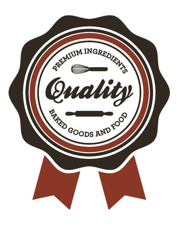 Premium Ingredients Quality Baked Goods and Food Label