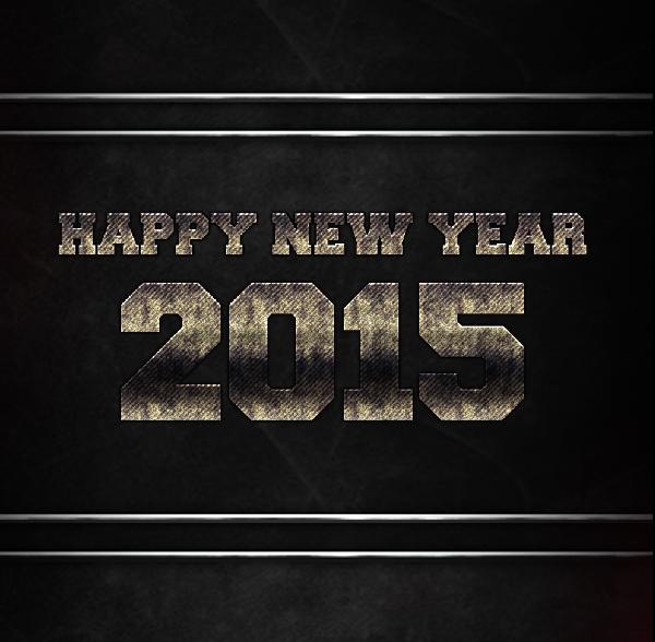 2015 New Year Steel Wallpaper