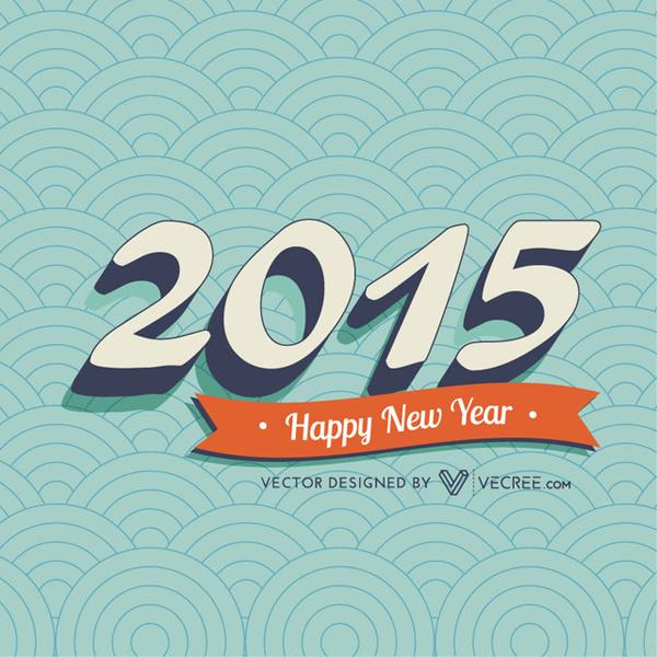 2015 Vintage New Year Greeting