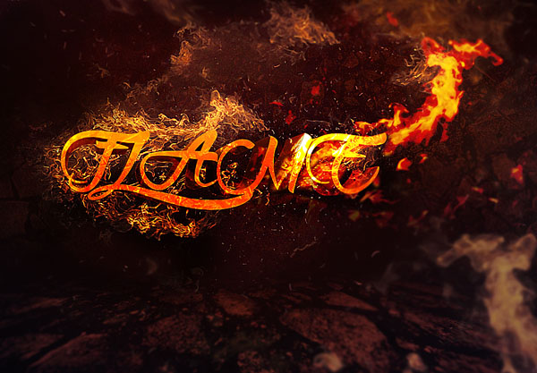 Create 3D Text Surrounded by Flame in Photoshop