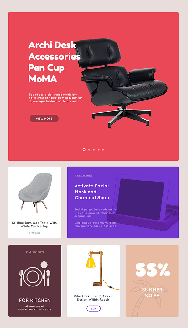 Accessories Template Free PSD Files