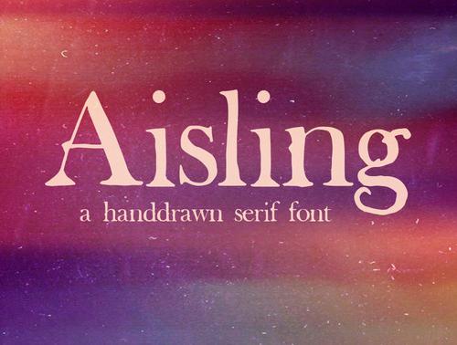 Aisling Serif Free Font