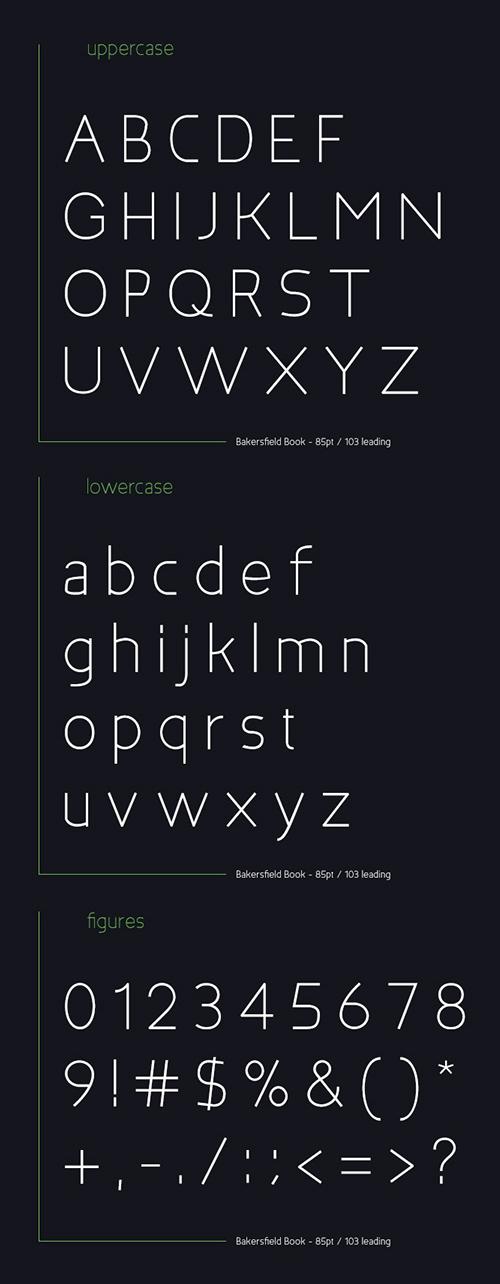 Bakersfield Font Letters