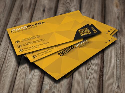 Yellow Creative Business Card