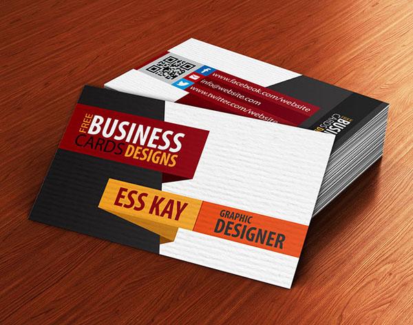 Free Creative Textured Business Card Design Template