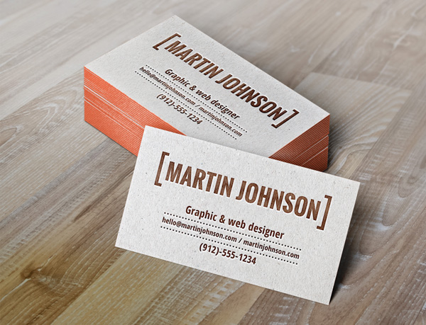 Free Letterpress Business Card Template