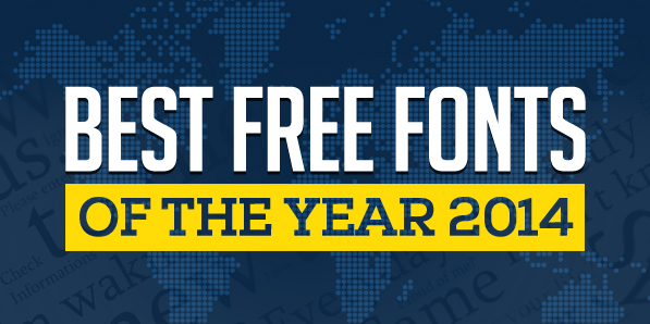 50 Free Fonts Best of 2014