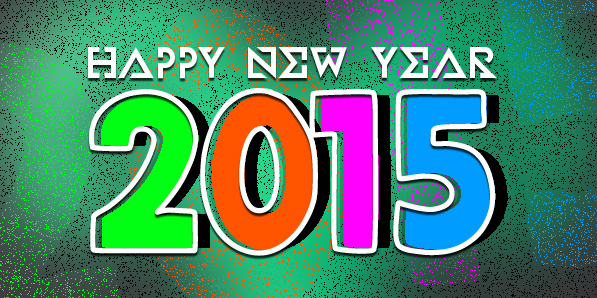 2015 New Year Vector Designs Wallpapers, Calendar & Greeting Cards
