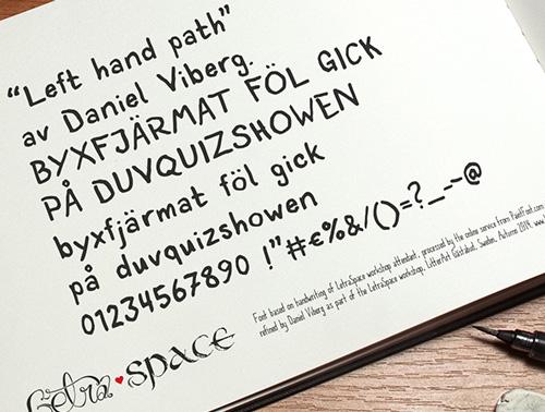 LetraSpace Free Font
