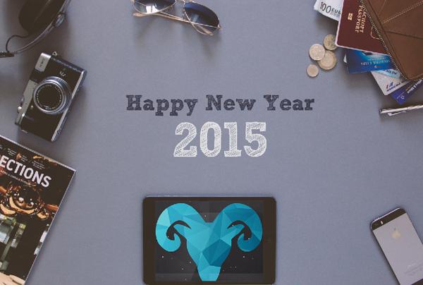 New Year 2015 Hero Header Wallpaper