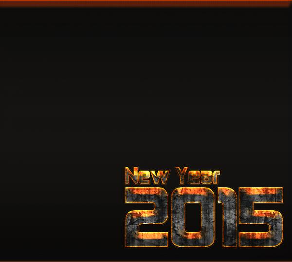 New Year 2015 Wallpaper Fire Effect