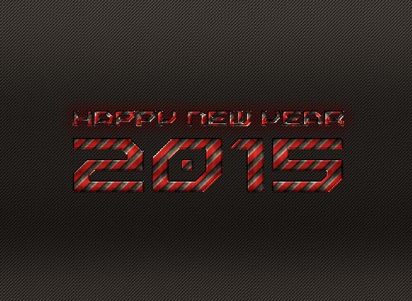 New Year 2015 Wallpaper Steel Effect