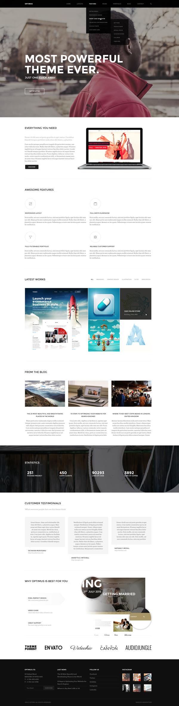 Optimus - A Super Easy to Use Multi-Concept HTML5