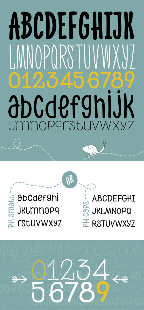 PH Font Letters