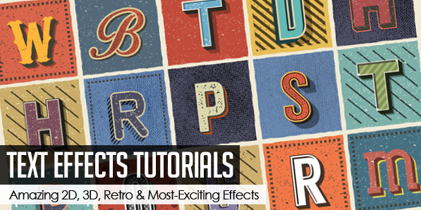 25 Amazing Photoshop Text Effects Tutorials for Designers