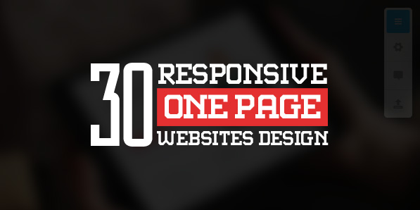 One Page Websites – 30 Inspiring Web Examples