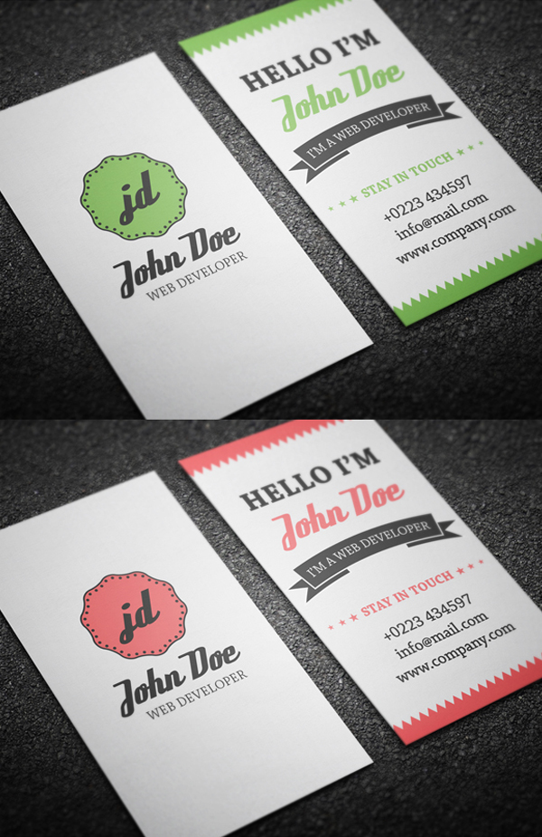 Retro Personal Business Card Template