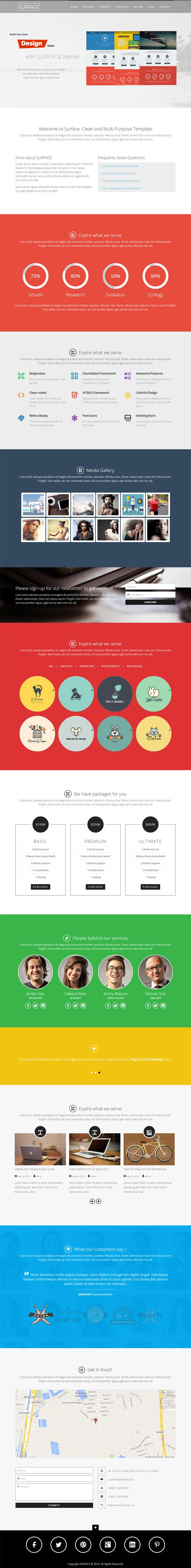 SURFACE - WordPress One Page Portfolio Theme