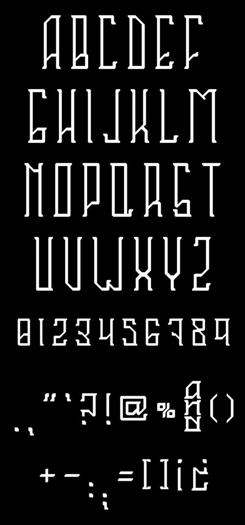 Sahaquiel Font Letters