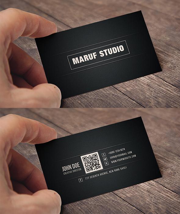 Blakish Simple Free Psd Business card
