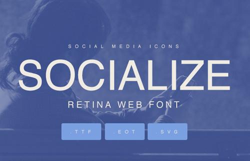 Socialize Free Font