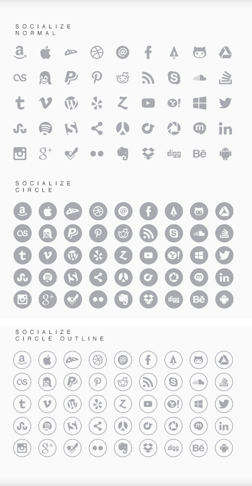 Socialize Font Letters