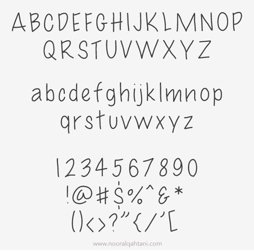 UNO Font Letters