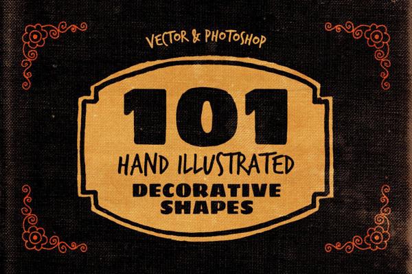 101 Handillustrated Decorative Shapes