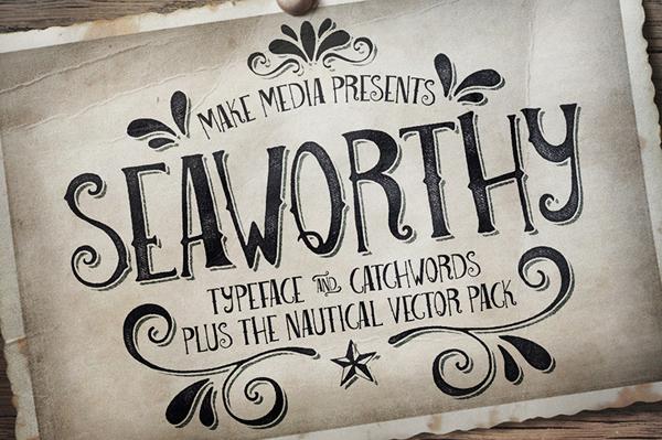 Seaworthy Typeface & Nautical Pack