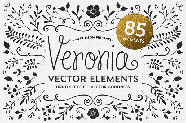 Veronia Font, Frames & Elements